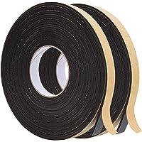 BENECREAT 2 rollen 20 m zelfklevende schuimstrip 20 mm (W) x3 mm (T) zwart enkelzijdig weer strippen schuim…