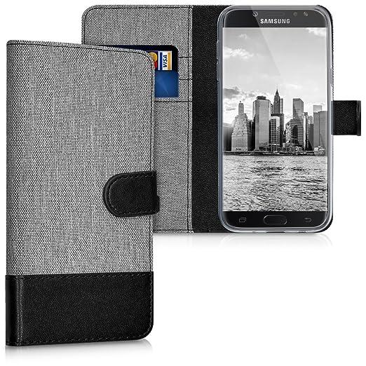 6 opinioni per kwmobile Custodia portafoglio per Samsung Galaxy J5 (2017) DUOS- Cover in simil