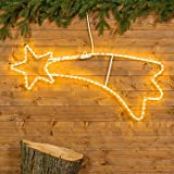 Stella cometa 95 cm in tubo luminoso, 108 led bianco caldo, stelle luminose, decorazioni natalizie, luci di natale