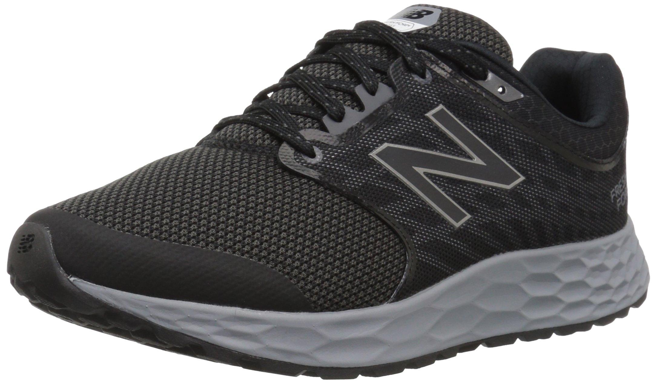 New Balance Men's 1165v1 Fresh Foam Walking Shoe, Black/Silver, 12 2E US by New Balance