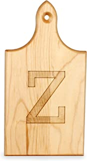 product image for J.K. Adams Q-Tee Cut-Up Sugar Maple Wood Cutting Board, 7-1/2-inches by 4-inches, Alphabet Series, Z
