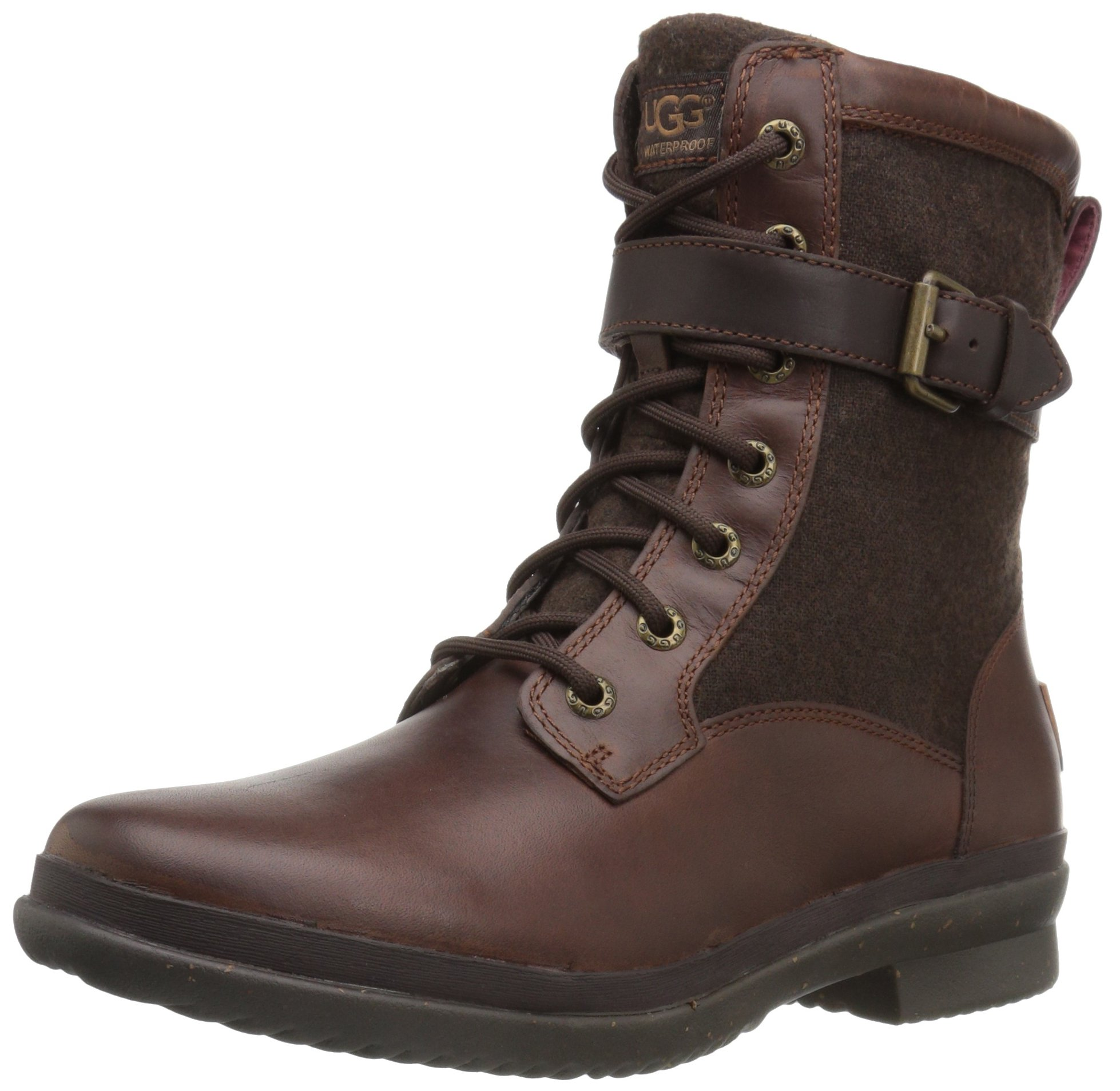 UGG Women's Kesey Motorcycle Boot, Chestnut, 7.5 B US