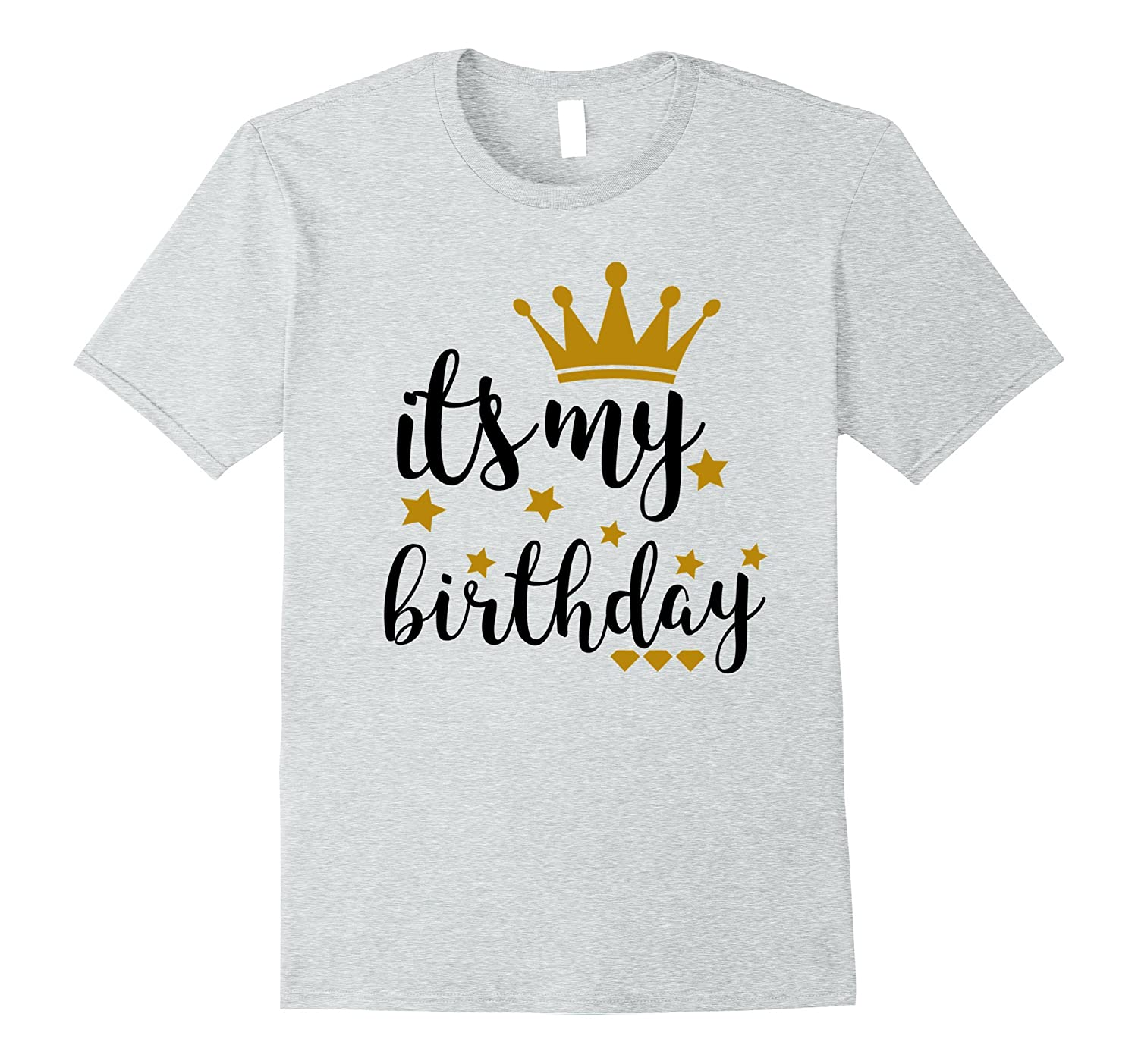 Its My Birthday Shirt For Women Teens Girls Black Gold Ah