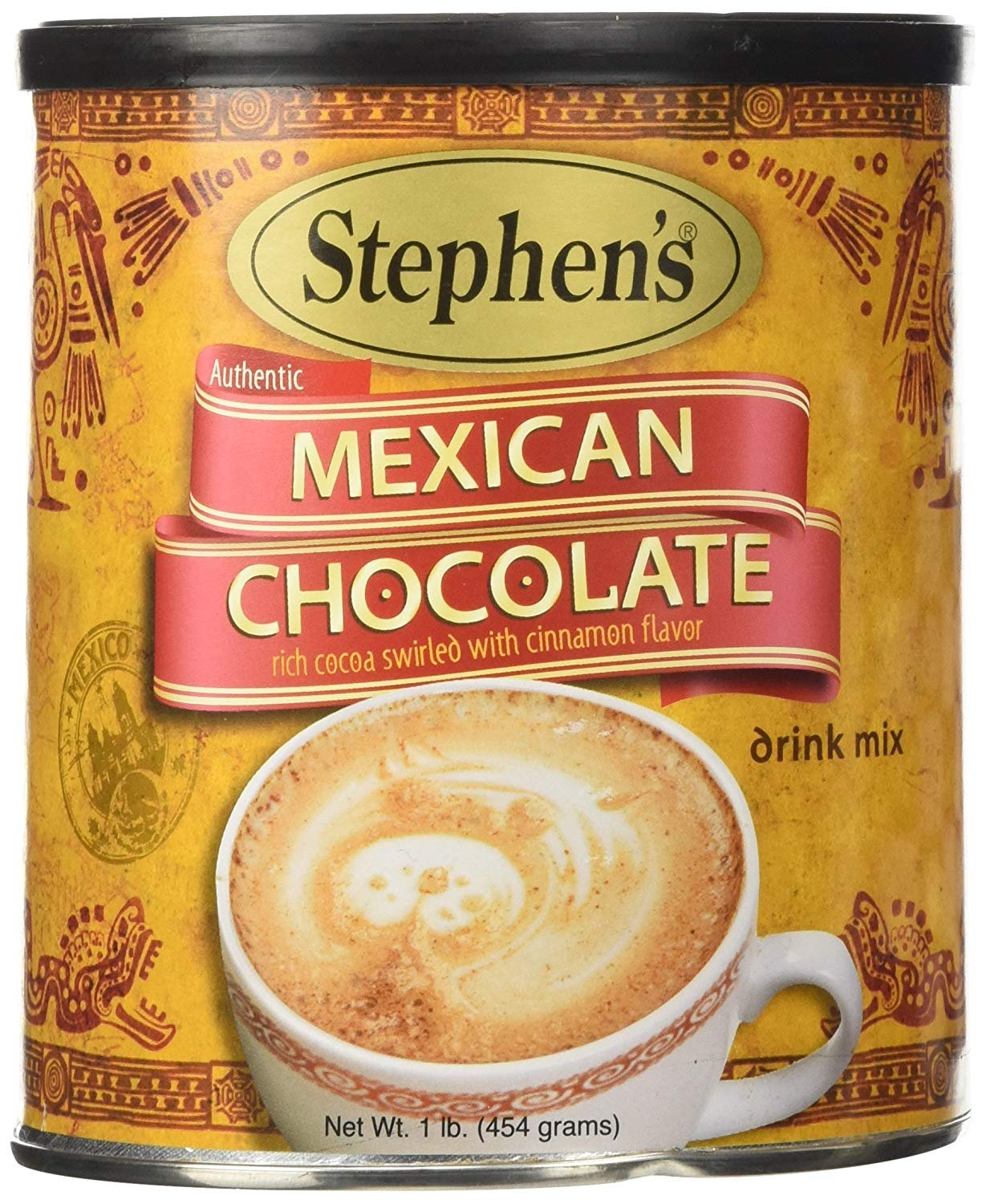 Stephens, Mexican Chocolate, Drink Mix, 16 oz Canister (Pack of 4)