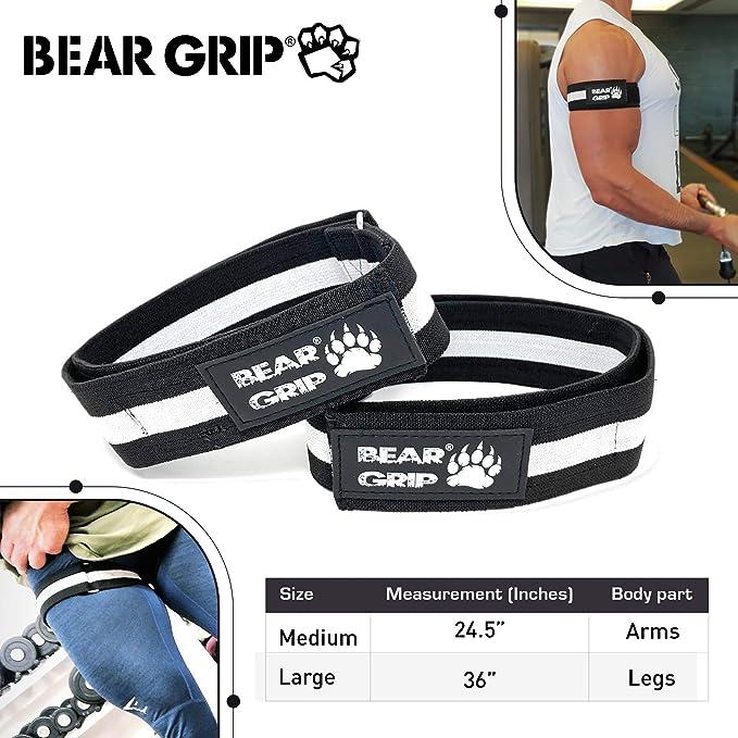 BEAR GRIP Ours Grip Occlusion Bandes de Musculation