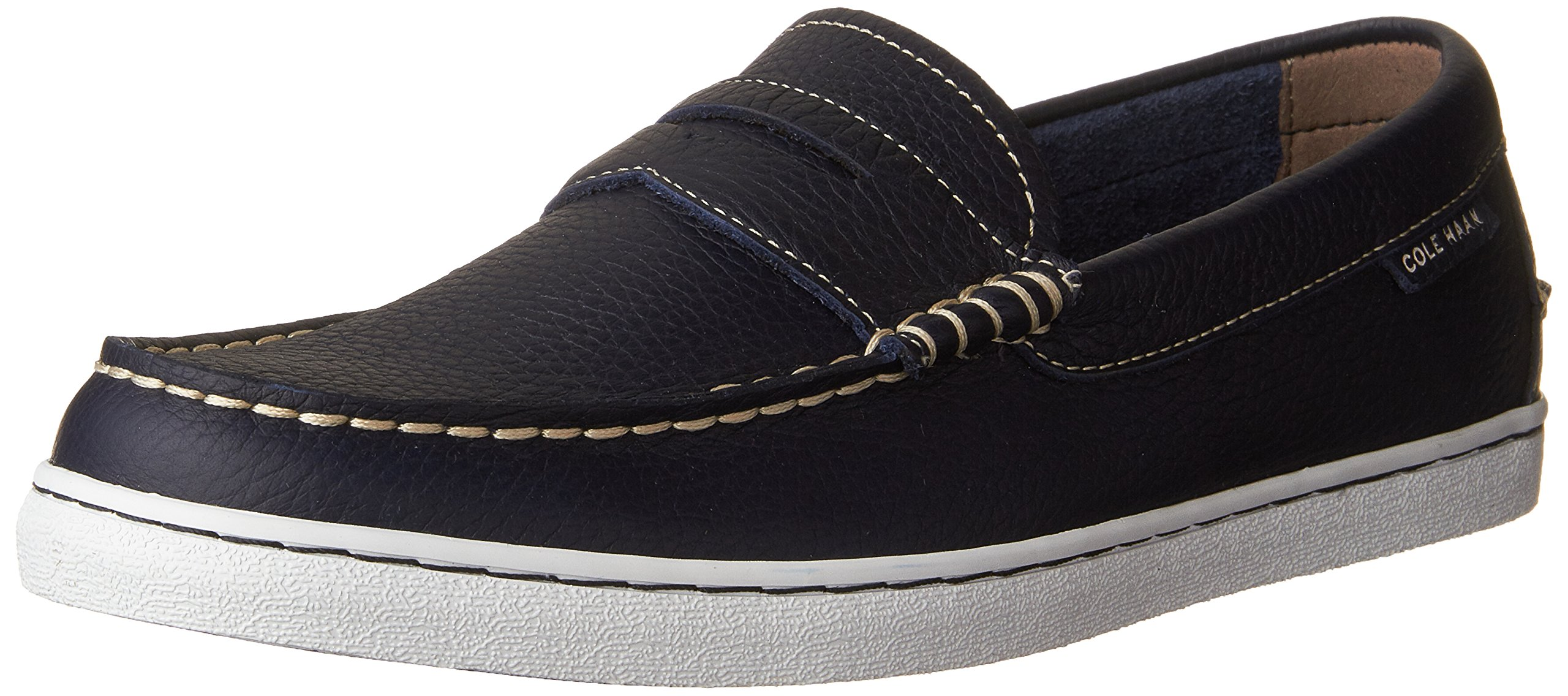 Cole Haan Men's Pinch Weekender Penny Loafer, Peacoat Leather/White, 8 M US