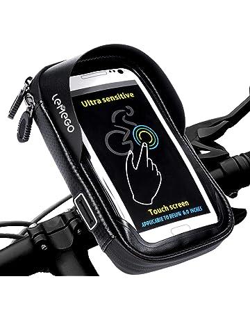 bf10dc6e4a Support Vélo Téléphone Etanche, LEMEGO Support Smartphone Universel Sacoche  Vélo pour Guidon de Vélo VTT