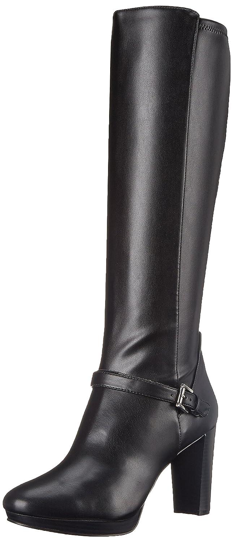 4f28601a1 Amazon.com | Nine West Women's Kacie Synthetic Knee High Boot, Black, 5 M  US | Knee-High