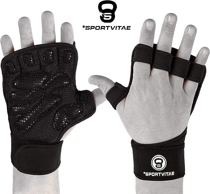 Sportvitae Calleras Crossfit Weightlifting Gloves Guantes de Gimnasio Ventilados Agarres de Mano Protector de Manos Hand Gimnasio Ejercicio ...