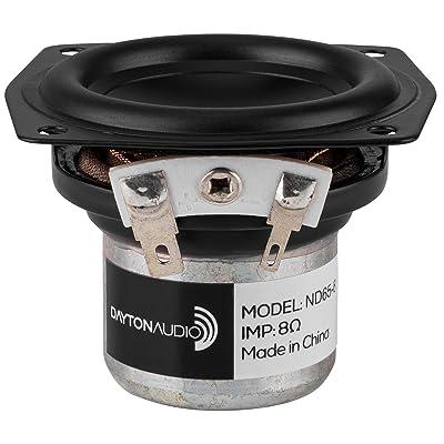 """Dayton Audio ND65-8 2-1/2"""" Aluminum Cone Full-Range Neo Driver 8 Ohm: Electronics"""