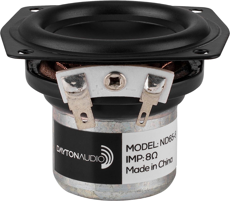 """Dayton Audio ND65-8 2-1/2"""" Aluminum Cone Full-Range Neo Driver 8 Ohm"""