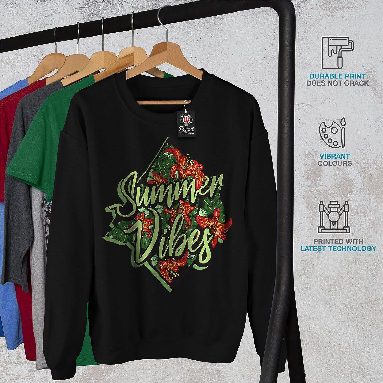 wellcoda Summber Vibes Mens Sweatshirt Holiday Joy Casual Jumper