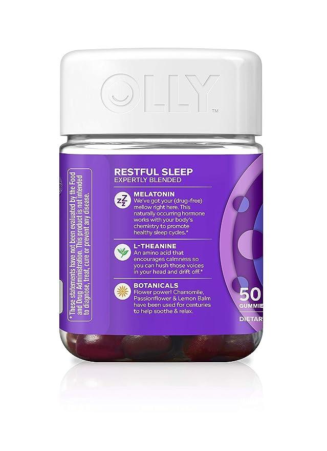 OLLY Restful Sleep Blackberry Zen - 50 Count by Olly: Amazon.es: Salud y cuidado personal