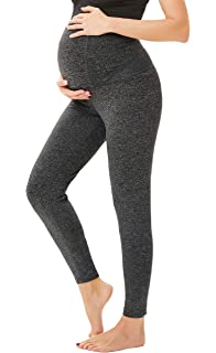 51620cf24d026 Women's Maternity Over The Belly Active Lounge Comfy Capri Yoga Pants/Shorts
