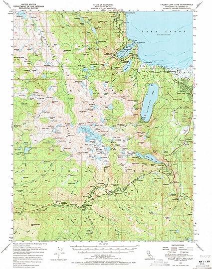 fallen leaf lake map Amazon Com Yellowmaps Fallen Leaf Lake Ca Topo Map 1 62500 Scale fallen leaf lake map