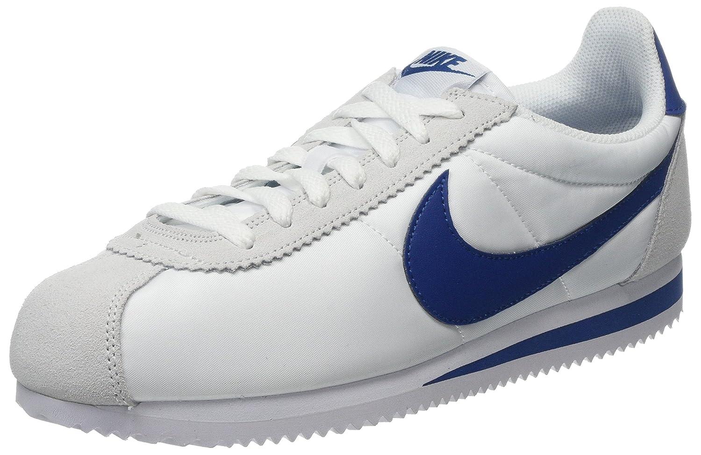 Nike Herren Classic Cortez Nylon Laufschuhe  405 EU|Grau (White/Gym Blue 102)