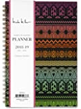 """Nicole Miller for Blue Sky 2018-2019 Academic Year Weekly & Monthly Planner, Flexible Cover, Twin-Wire Binding, 5"""" x 8"""", Tribal Design"""