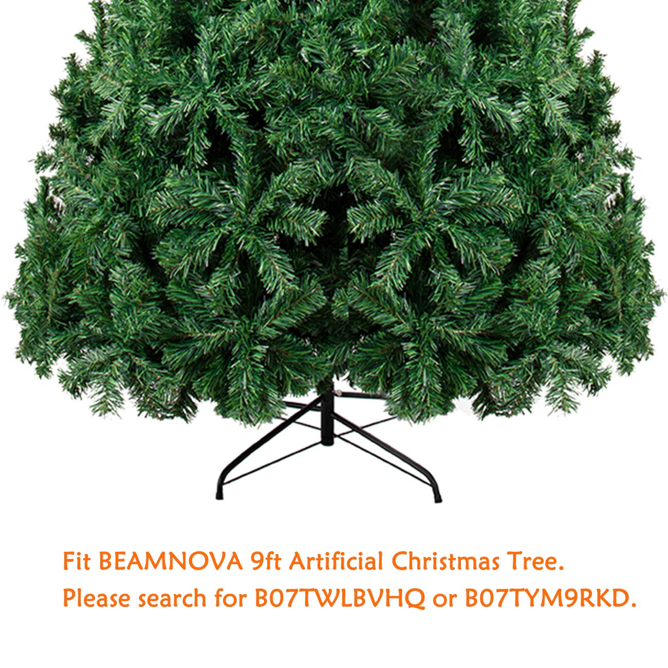 60cm, for 9ft Tall Tree BEAMNOVA Christmas Tree Stand for Artificial Trees Iron 4 Legs Indoor Outdoor