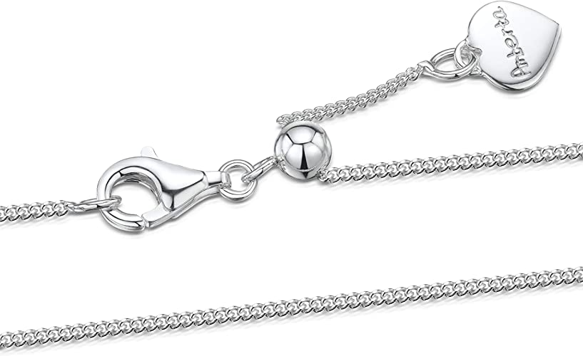 STERLING SILVER 925 BALL BEAD CHAIN Vavrious lengths available 0.8mm