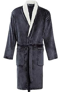 11329b9b00d5 MICHAEL PAUL Men s Luxury Soft Fleece Dressing Gown  Amazon.co.uk ...