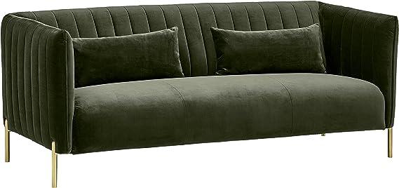 Rivet Frederick Mid-Century Modern Tufted Velvet Sectional Sofa Couch