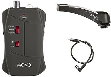Movo LC200-N1 disparador remoto inalámbrico para sonido, movimiento y relámpagos para cámaras DSLR