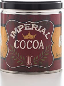 Our Own Candle Company Hot Chocolate Scented Candle in 13 Ounce Tin with a Vintage Imperial Cocoa Label by Linda Spivey