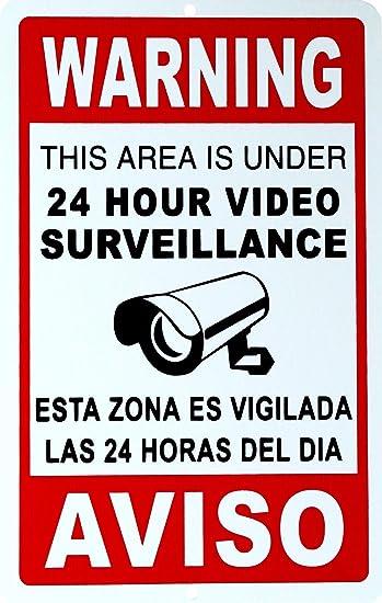 Amazon.com: 1 señal de seguridad apasionante y única de 24 ...