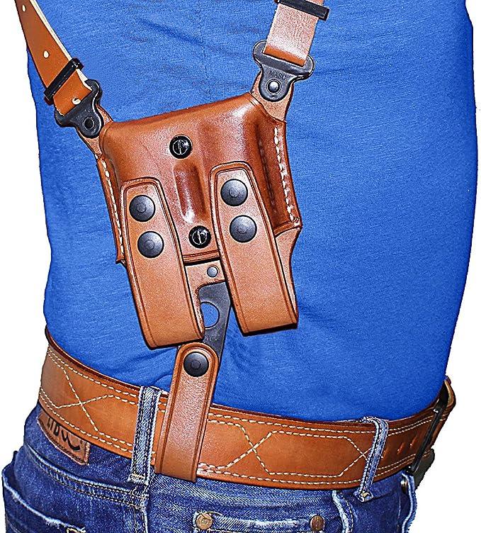 Vertical Shoulder Holster Fits Colt 1911 With Magazine 5'' BBL