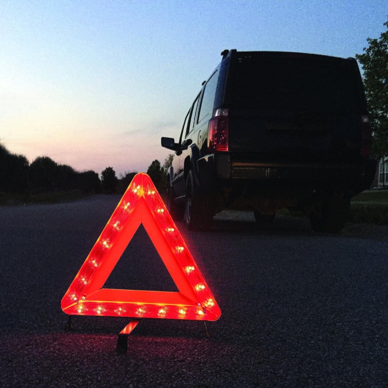 21 LED Bulbs, 18, Collapsible Deflecto 72-1121-01 Warning Triangle