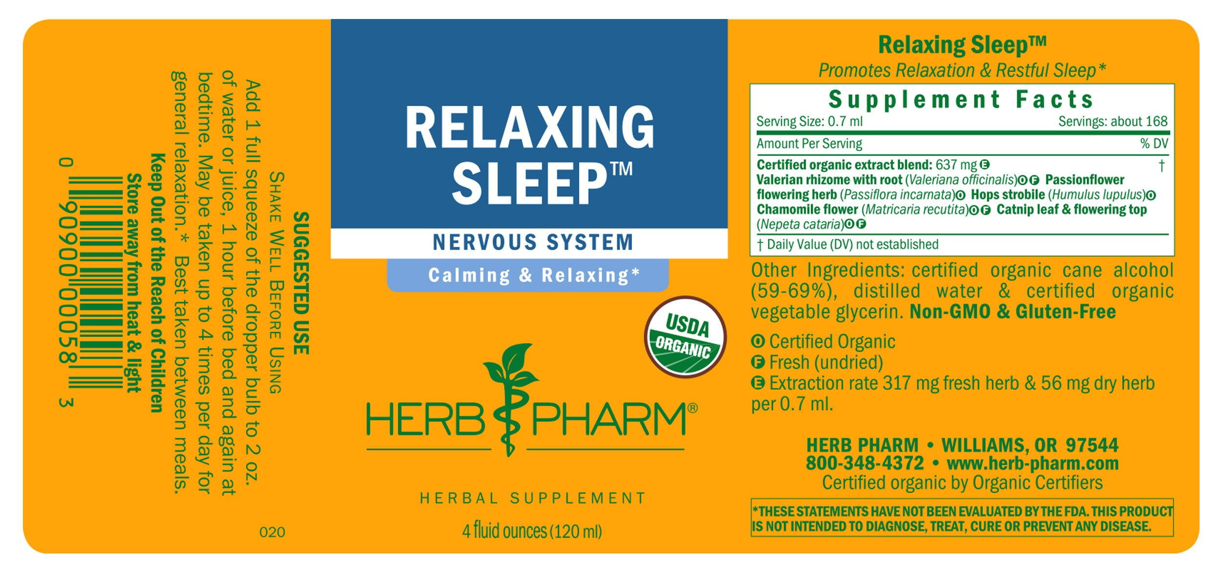 Herb Pharm Relaxing Sleep Herbal Formula with Valerian Liquid Extract - 4 Ounce by Herb Pharm (Image #7)