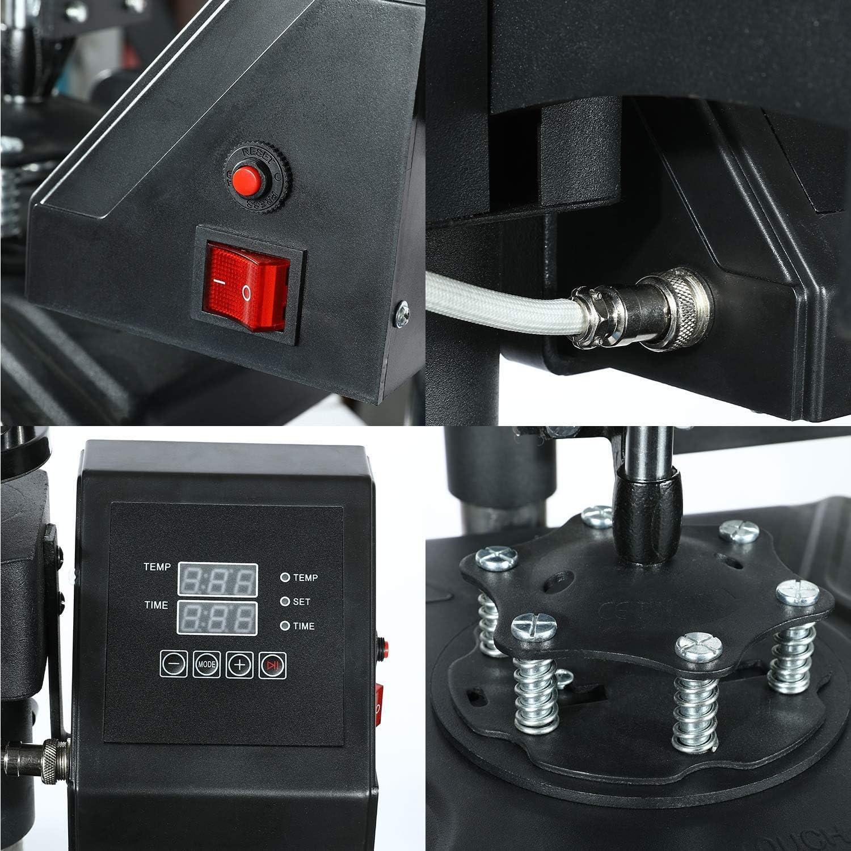 Mophorn Heat Press Machine 12x15 inch 5in1 T-Shirt Heat Press and Vinyl Cutter 53 inch Plotter Machine 1350mm Paper Feed Vinyl Cutter Plotter: Electronics