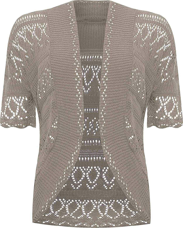 Amazon.com: Chaqueta tejida al crochet, para mujeres : Clothing