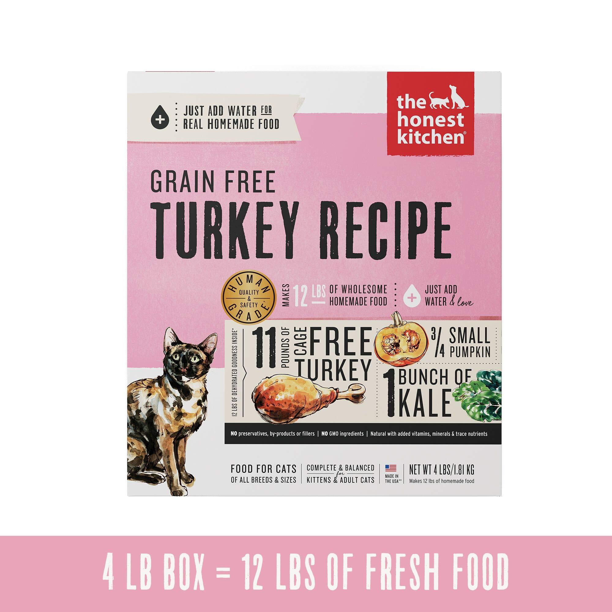 Honest Kitchen Grain Free Turkey Cat Food Recipe 4 lb Box - Grace by Honest Kitchen