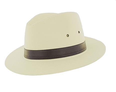 fa3ac766ac5 The Hat Company Mens Cotton Fedora  Amazon.co.uk  Clothing
