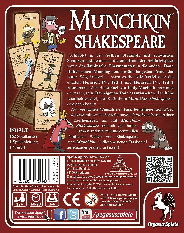 Pegasus Spiele 17244G Munchkin Shakespeare
