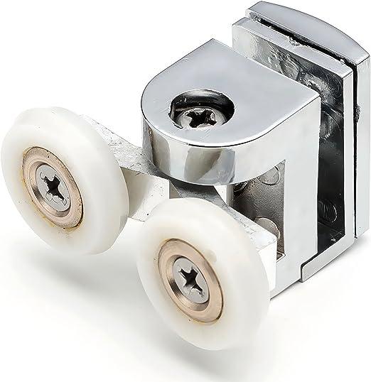 2 x Twin Top para mampara de ducha de soportes para cañas de ...