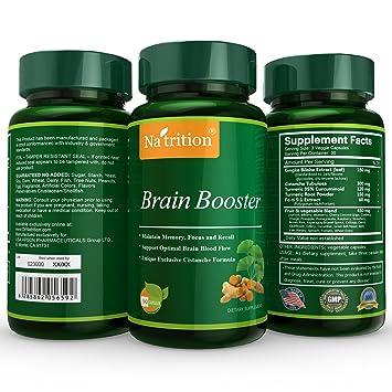 Natrition Brain Booster - Ginkgo Biloba, Turmeric, Cistanche Tubulosa, Fo-ti Extract