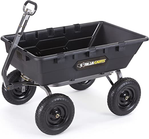 Amazon.com: Gorilla Carts GOR10-16 carro de basura de ...