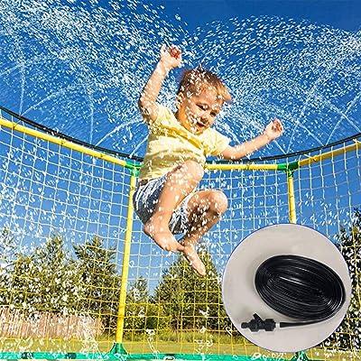 GBSELL Trampoline Sprinkler Waterpark, 49.2FT Sprinkler Hose, Outdoor Water Play Sprinkler, Water Park Sprinkler, Water Spray Tube for Children Trampoline, Trampoline Cooling System : Sports & Outdoors
