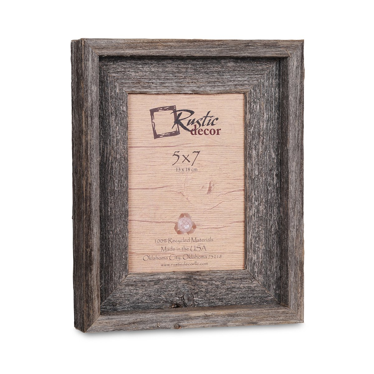 Amazon.com - 5x7 Picture Frames -Signature Barnwood Reclaimed Wood ...