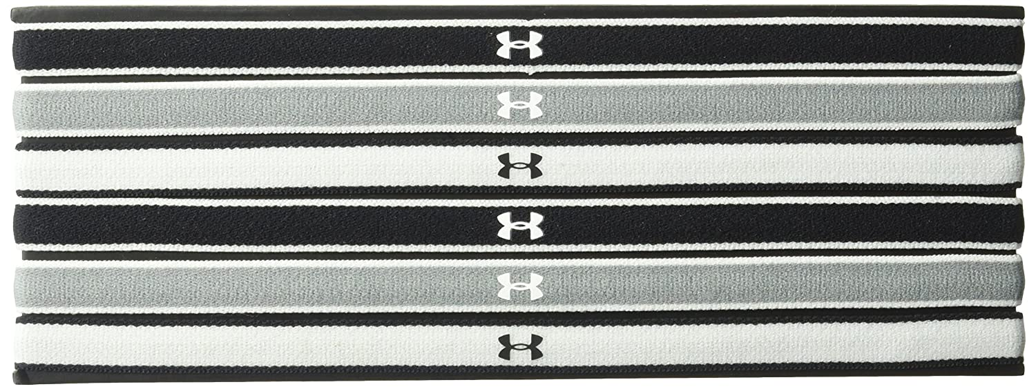 Under Armour Women's UA Mini Headbands - 6 Pack, Red/White, One-Size 1286016