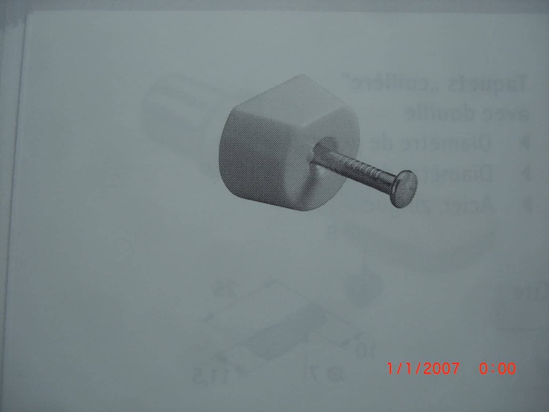 8X Bodenträger Hettich Safety Ø3mm Kunststoff transparent