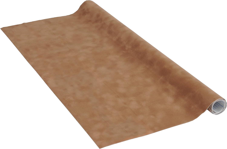imperm/éable PVC sans phtalates Film adh/ésif d/écoratif pour meuble effet suedines SUEDINES CARAMEL 45 x 100 cm 53193