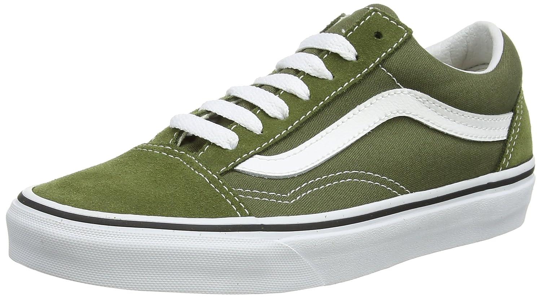 Vans Unisex Old Skool Classic Skate Shoes B01N5DP7OY 7 M US Women / 5.5 M US Men|Winter Moss/True White