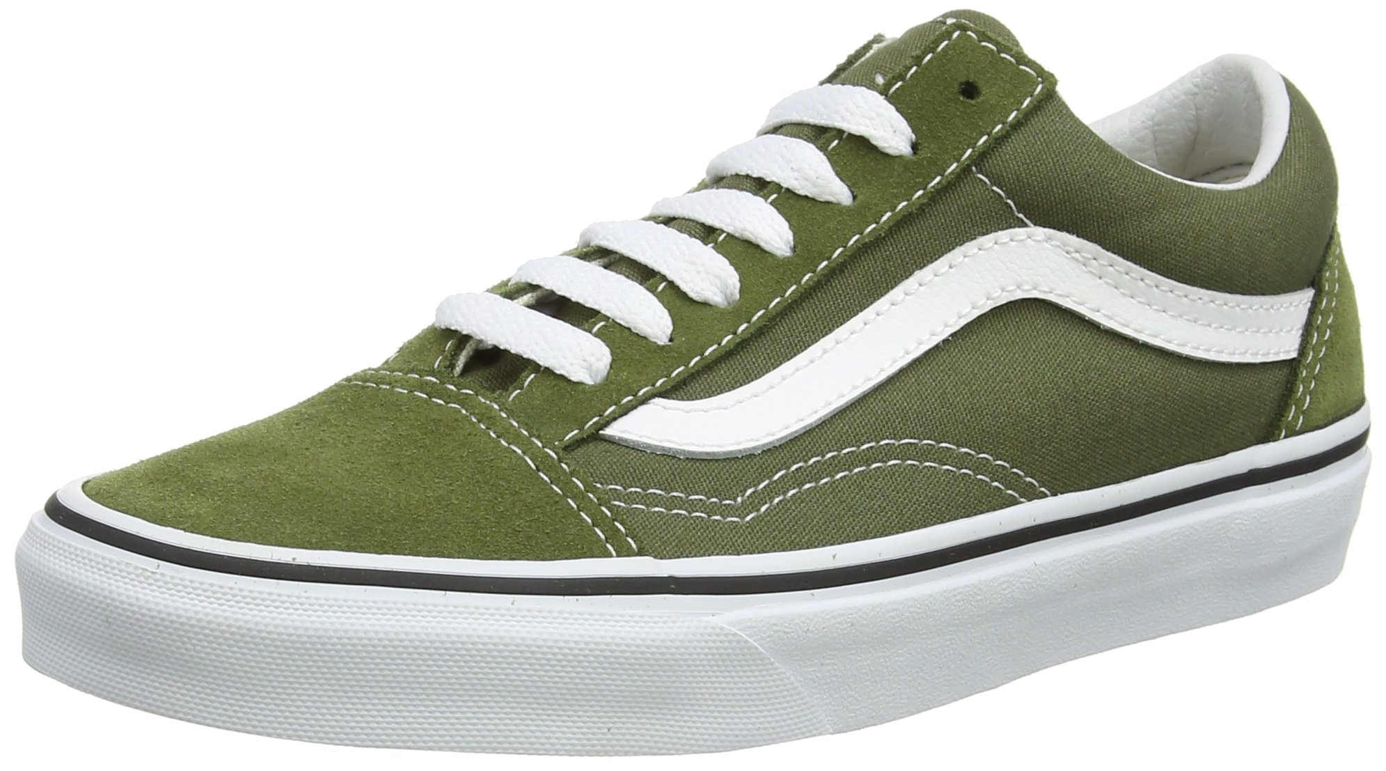 Vans Unisex Adults Old Skool Classic Suede/Canvas Sneakers, Green (Winter Moss/True White), 9 UK (43 EU)