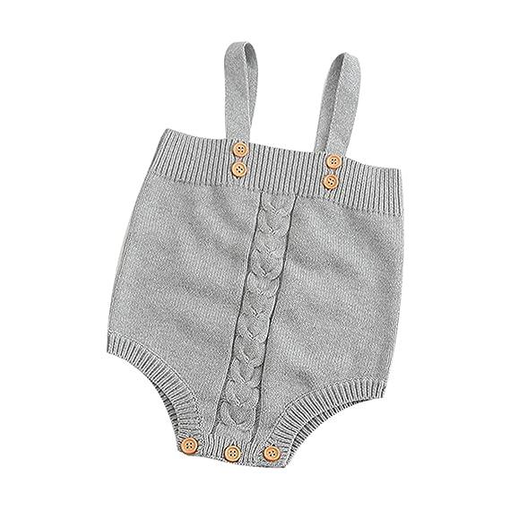 Longra Ropa De Punto, Mameluco Punto Recién Bebé Chico Chica Conejo Bunny Elá Stico Mono Traje Ropa (0~18 Meses)