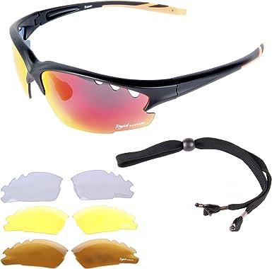 Rapid Eyewear Expert Cycle GAFAS DE SOL PARA CICLISMO. También para mtb, correr y escalar. Para hombre y mujer. Lentes transparentes y polarizadas ...