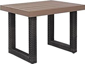 Crosley Furniture CO7229-BR Beaufort Outdoor Wicker Side Table, Brown