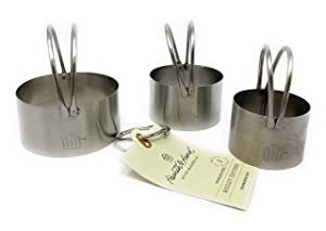 3 piece Stainless Steel Biscuit Cutters by Hearth & Hand with Magnolia